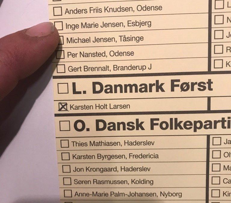 Stemme på Danmark Først i Fyn i Region Syddanmark 2017