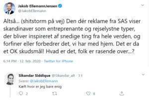 SAS får støtte fra Satan selv - SAS flyselskabet fra helvede SAS Scandinavian Airlines System